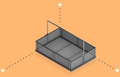 Medium Basket Measurements (rectangular)