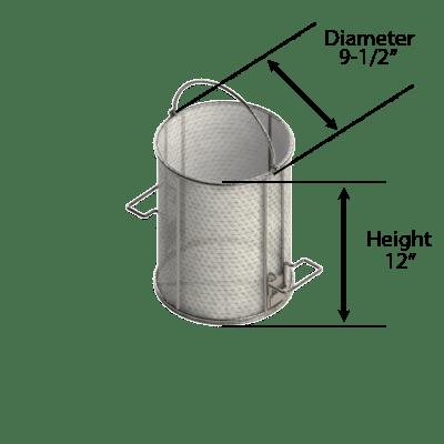 5 Gallon Dip-And-Drain Basket