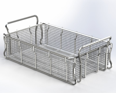Expanded Metal Tote Basket